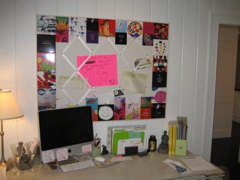 Tile-framed tack board