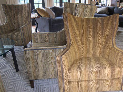 Wood grain fabric