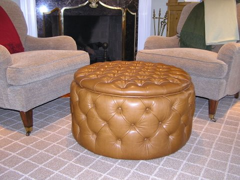 Tufted Italian leather